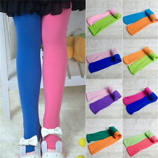 Girls Kids Children Winter Velvet Leggings Solid Candy Color Pant TrousersB DD