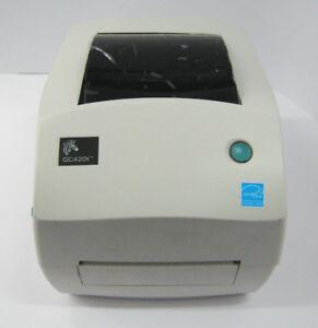 USED Zebra GC420T Direct Thermal Barcode Label Printer 100mm USB/SER/PAR #892T