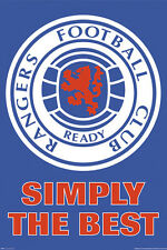 Glasgow RANGERS SIMPLY THE BEST Official SPL Soccer Team Crest LOGO POSTER