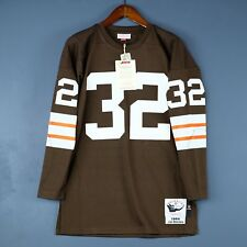 100% Authentic Jim Brown Browns Mitchell & Ness NFL Jersey Size Mens 44 Large
