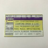 Counting Crows Live Mars Music Amphitheatre Concert Ticket Stub October 2000