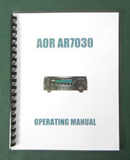AOR AR-7030 Operating Manual - Premium Card Stock Covers & 28lb Paper!