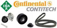 ContiTech Belt 6PK1990 w/INA OE Tensioner 11288624196 + Pulley 11287535860 Set