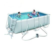 "Pool Ground Bestway 412*201*122cm Rectangular Strong Set(Filter+48"" Ladder)Big"