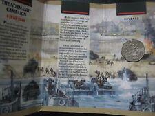 UK 1994 ~ D-Day Landings 50th Anniversary ~ 50 Pence Coin Mint Folder ~ Damaged!