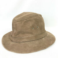 Vintage Mens Large Hat Suede Fedora Light Brown United Hatters Millinery Union