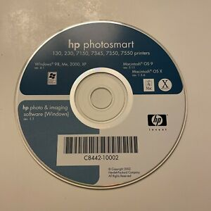 HP Photosmart 130/230/7150/7345/7350/7550 Printers Driver Disc Software for Mac