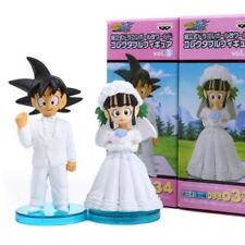 DRAGON BALL - SET 2 FIGURAS / GOKU & CHICHI BODA WEDDING SET / 2 FIGURES SET 8cm