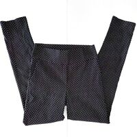 Maiocchi Black White Patterned High Waist Work Pants Stretch Size 12