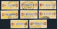 DDR-Dienst, B 20, Lot 8 Stück verschiedene Buchstaben, gestempelt, Mi. 60,-