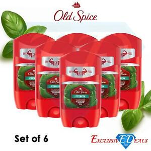6 x Old Spice Men's Antiperspirant Citron with Sandalwood Deodorant Roll On 50ml