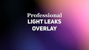 4K Light Leaks Pack For Cinematic/Weddings Video Production