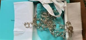 """Tiffany & Co. Sterling Silver Atlas Horizontal Link Necklace 35.5"""""""