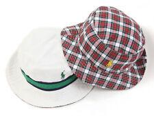 Polo Ralph Lauren Safari Bucket Hat Cap - Reversible white/red check sz L/XL