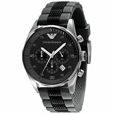 Emporio Armani AR5866 Black Chronograph Mens Watch 2 Year