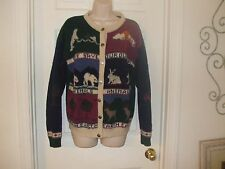 Woolrich 100% Wool Save the Earth Themed Size Medium Women's Sweater