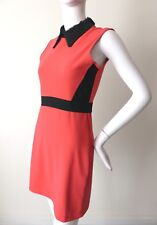 MARKUS LUPFER Sleeveless Sequin Collar Shift Dress Size Medium rrp $570.00