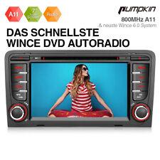 Pumpkin Autoradio DVD GPS Navi Bluetooth USB SWC Für Audi A3 S3 RS3 8P 2003-2011