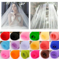 5m x 150cm Sheer Organza Fabric Voile for Curtain Weddings Decor Clothes Sewing