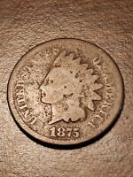 1875 Indian Head Cent Penny