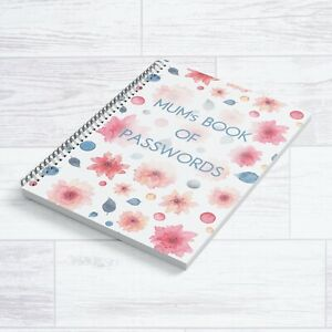 A5 MUM'S BOOK OF PASSWORDS NOTEBOOK NOTEPAD PERFECT MOTHERS DAY GIFT FLORAL