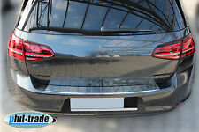 VW Golf 7 VII Limo Edelstahl Ladekantenschutz Abkantung Stoßstange Schutz hinten