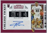 Zylan Cheatham Auto Rookie Card 2019 Contenders Draft Picks #127 Arizona State