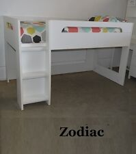 ZODIAC DELUXE KING SINGLE CABIN BUNK BED LOFT MIDI SLEEPER ONLY IN WHITE