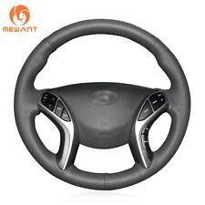 DIY Black Leather Steering Wheel Cover for Hyundai Elantra 3 Sport Avante i30