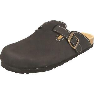 Cloxx Herren Clogs T69911.80 Hausschuhe Pantoffeln schwarz Lederfußbett NEU