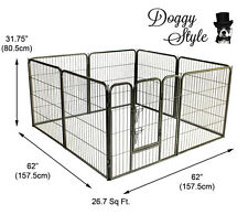 DOGGY STYLE 8 SIDED HEAVY DUTY PUPPY PLAY PEN WHELPING DOG CAGE FENCE DS-HD01M