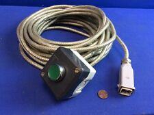 Allen Bradley 800FMF3 PUSH BUTTON W/ ENCLOSURE, 32½'L CABLE & ILME CKM-04 CONNEC