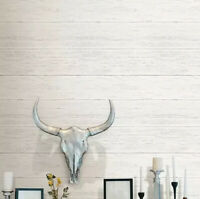 Brewster White Shiplap Wood Peel &Stick Wallpaper LOT GS26 Backdrop, Accent Wall