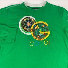 COOGI Australia Heavy Tee T Shirt Mens XL Green Long Sleeve Embroidered Applique