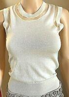 NWOT Authentic Dolce & Gabbana Ivory Vest Cashmere-Silk Blend MSRP $600 Size 38