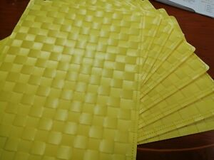 Set Of 9 Placemats Wipe Clean Yellow