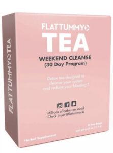 FlatTummy Tea Weekend Cleanse 30 Day Detox Program 8 BAGS Per Box Newspaper