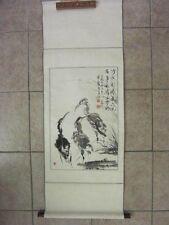 Chinese Scroll Painting Art Writing original signed by 国龙