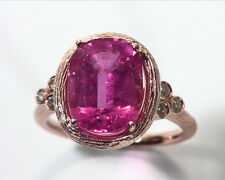 Pink Tourmaline Natural Genuine Gemstone Rose Gold Ring RFK,350