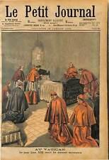 VATICAN VATICANO LAST SACRAMENT Papa Leone Léon LEO XIII PAPE POPE 1903