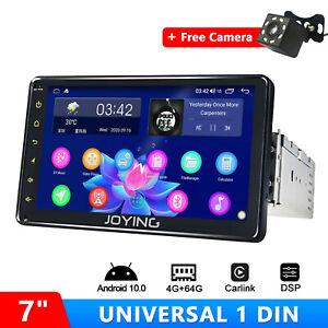 "7"" Android 10 1Din Car GPS Head unit with Wireless Carplay Free AHD Rear Camera"