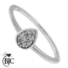 Anillos de joyería naturales de plata de ley diamante
