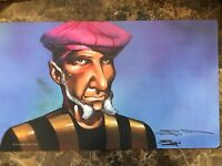 Official Wizards of The Coast Signed Doug Shuler Prodigal Sorcerer Play Mat