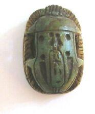 Egyptian Scarab X Large Bead With Heiroglyphs