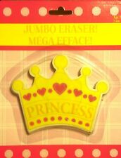 Children Kid Girl Princess Crown Heart Stationery School Toy Jumbo Eraser Nib