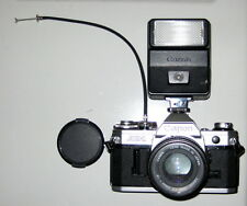 Canon AE-1 35mm SLR Film Camera, FD 50mm lens, Speedlite 177A flash, Rolev MG UV