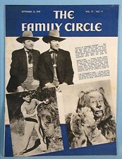 1939 Wizard of Oz Family Circle Magazine Cowardly Lion Bert Lahr Cover Photo