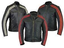 BUSA R/I/O Stripe Motorcycle Bonnie Leather Jacket CE Armoured CE1621-1