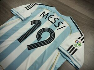 [Retro] - Argentina Home Fifa Worldcup 2006 with 19 MESSI and Patch Size XL