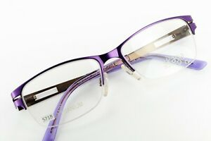 SKAGA 2534-U SORMI 109 Lilac 49-15-130 Half Rim Frames TITANIUM Flex ITALY S718